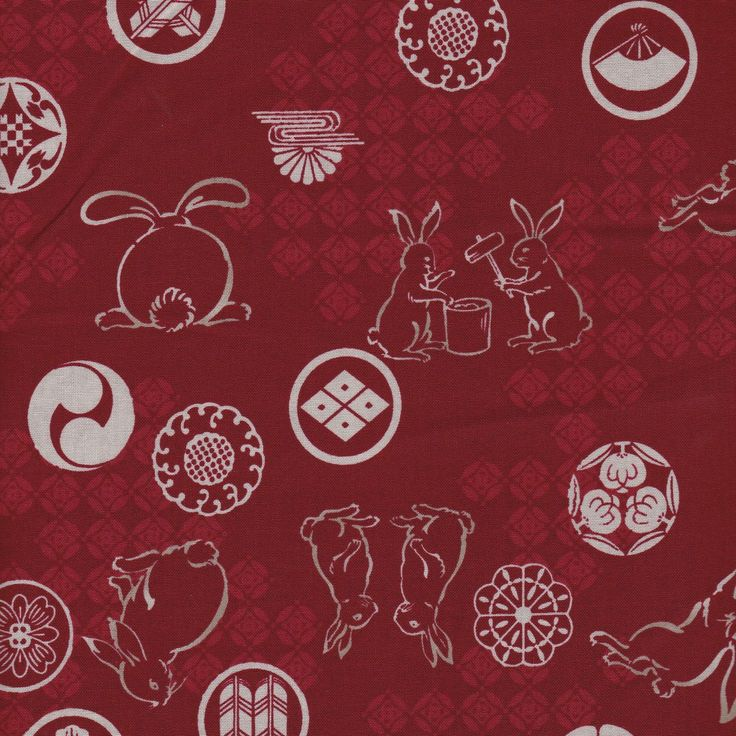 Distinctive Sewing Supplies - Wagara Japanese Rabbit Cotton Print - Red, $10.00 (http://www.distinctivesewing.com/wagara-japanese-rabbit-cotton-print-red/)