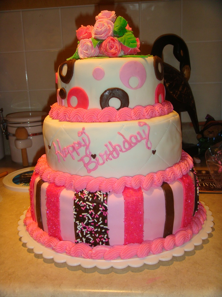 Tier Birthday Cake Images