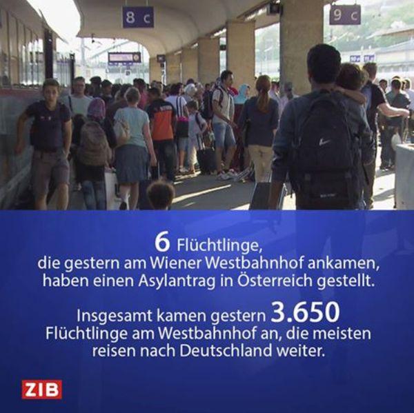 """Nicht mal mehr in Österreich wollen die """"Flüchtlinge"""" bleiben, alle wollen nach Deutschland... Nur 6 von 3.650 die gestern angekommen sind wollen in Österreich bleiben. - Der Rest will nach Deutschland"""