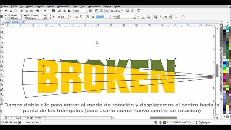 Efecto Texto Roto Corel DRAW X7 - Broken Text Effect