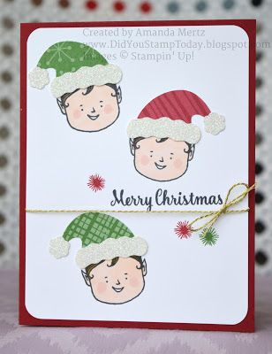 Sweet Little Elves - Stampin' Up! Jolly Friends (Did You Stamp Today?)