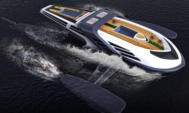 imagen 1 de Seataci, un yate para navegar bajo el agua.