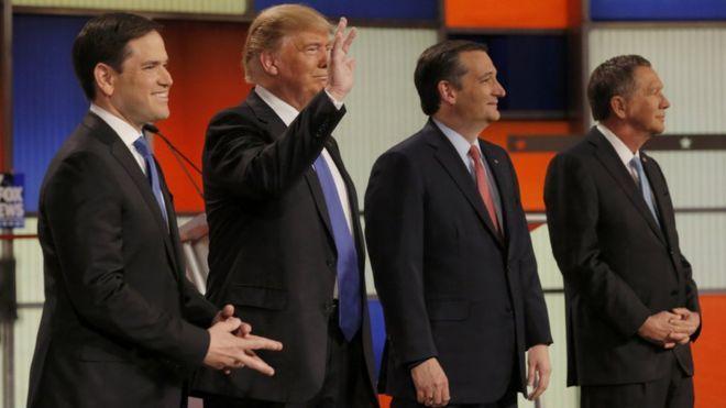 Donald Trump has come under attack from his rivals at a Republican debate.