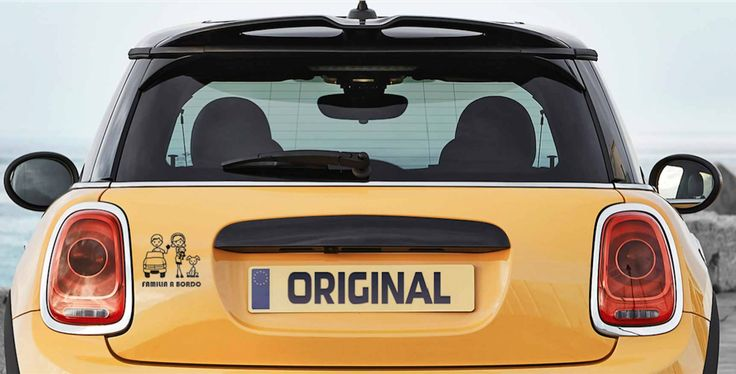 A yellow mini!! So cool! #mini #cooper #sticker #decal