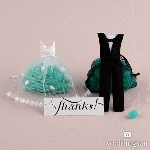 Bride & Groom Candy Favor Bags - Weddingstar