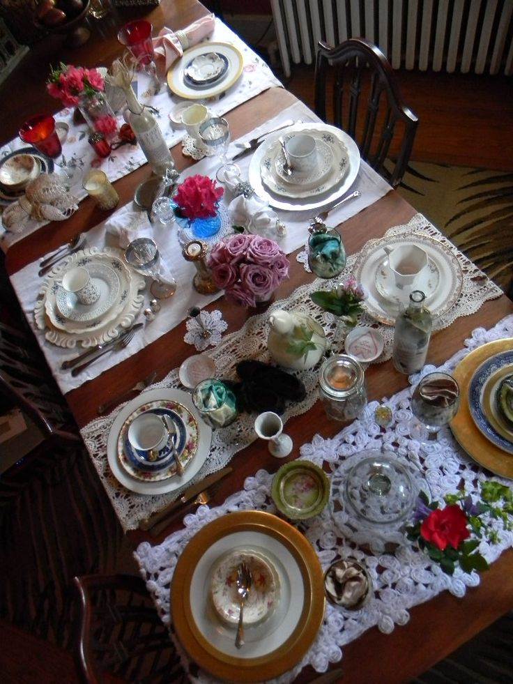 25+ best ideas about Vintage table settings on Pinterest | Wedding ...