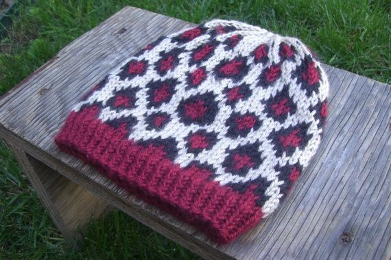 Leopard Knitting Pattern : animal print knit pattern Hand Knit Leopard Print Cheetah Hat Knitting Id...