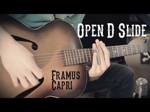 Slide Guitar - Open D Blues HD - YouTube