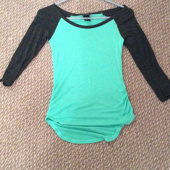 Baseball like tee! super soft! Rue 21 turquoise and gray baseball tee like. SUPER SOFT!!  Rue 21 Tops