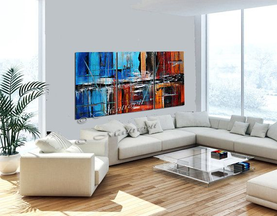 GRANDE pittura dipinti di arte astratta arte moderna rosso