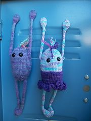 Ravelry: Mr. and Ms. Bean the Locker Monsters pattern by Julie L. Anderson