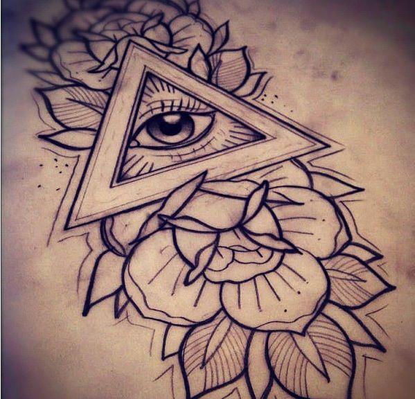 Triangle eye tattoo