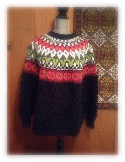 Fair Isle Norwegian wool sweater by WILLIAM SCHMIDT by VikingRaids