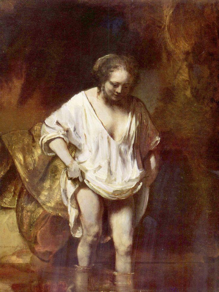 Rembrandt Harmensz. van Rijn: Hendrickje badend - Gemeinfrei