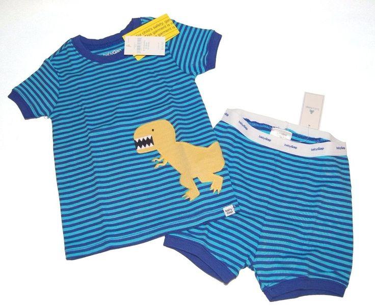 Baby Gap Boys Dinosaur T-Rex Short Pajamas PJs NEW NWT #babyGap #TwoPiece #dinosaur #TRex