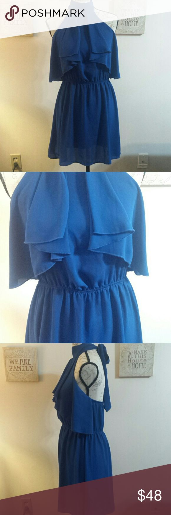 New dress Nordstroms so cute Beautiful blue halter dress you will love worn once for few hours like brand new .... great steal .... great for holidays arancia Dresses