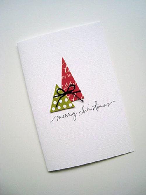 tarjetas de navidad originales hechas a mano 61