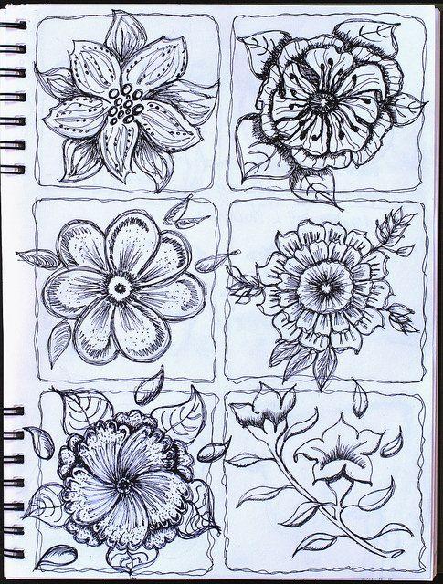 Creative Drawings Of Flowers