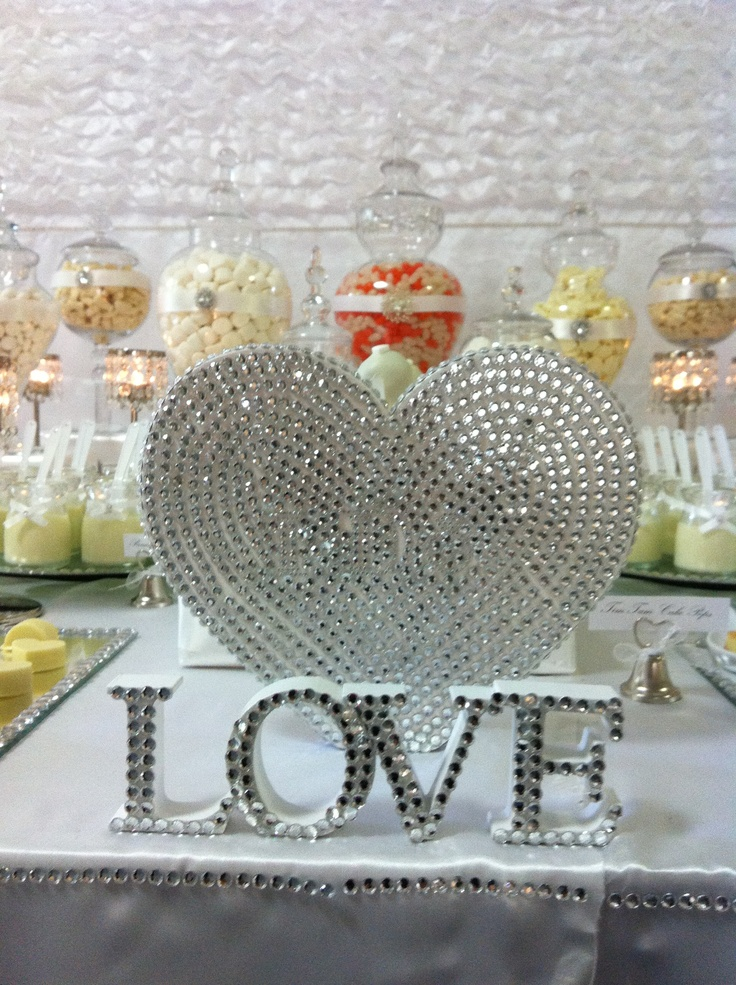 I designed this Bling Candy Buffet for a wedding.