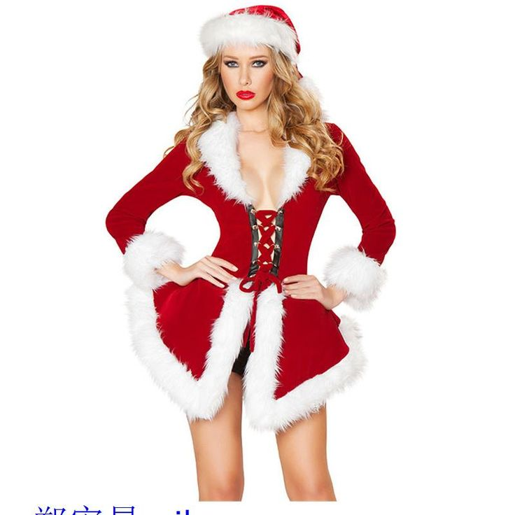 ==> [Free Shipping] Buy Best Winter Christmas Adult Sexy Costumes For Women Two Piece Chic Velvet Santa Costume LC7275 Disfraces Halloween Mujer Black Friday Online with LOWEST Price | 32605558044