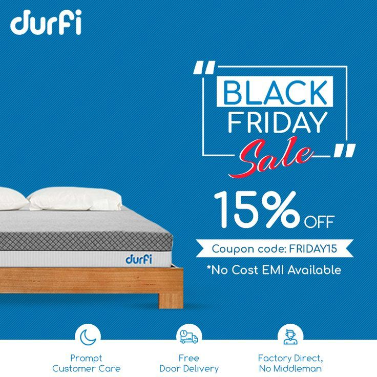 Black Friday Sale Is Here Get 15 Off On Your Favourite Mattress