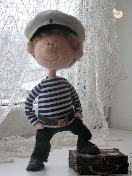 Коллекционные куклы ручной работы. Ярмарка Мастеров - ручная работа. Купить Морячок Ромка. Handmade. Комбинированный, Авторский дизайн