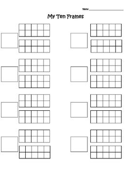 Worksheet with 20 Frames  -You can fill in your own numbers  -Can be used for write the room (teen number edition) -Can be used for Q-tip painting teen numbers