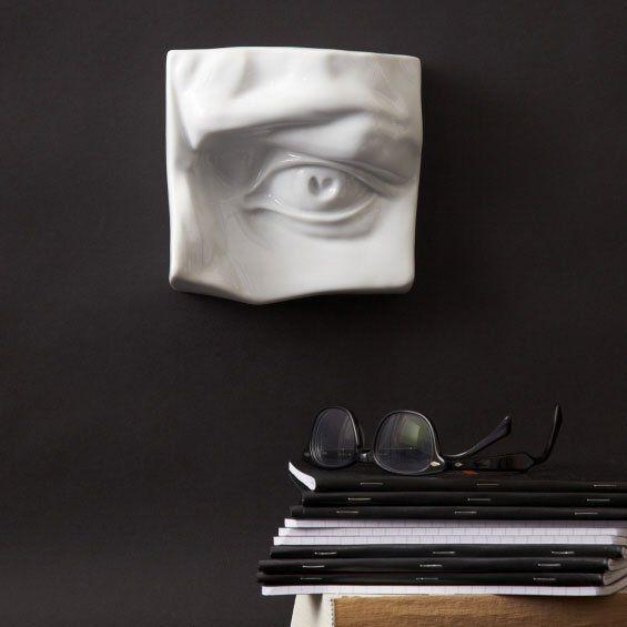 Tozai Home CFJ263-W Sensual Eye Transitional Sculpture / Wall Art (Pack of 2) TOZ-CFJ263-W