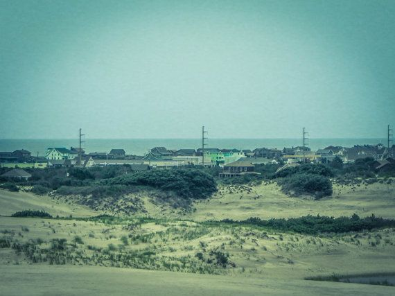 Outer Banks Sand Dune Houses Pt.2 8x10 Photograph