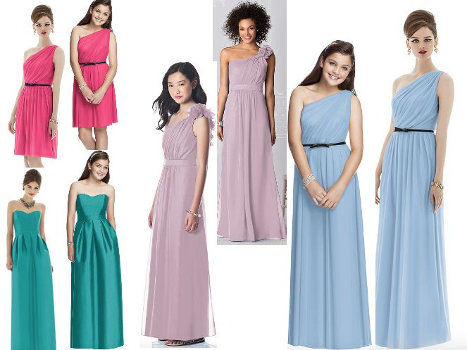 Dresses For Your Teenage Bridesmaids (That Match The Older