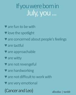 July cusp