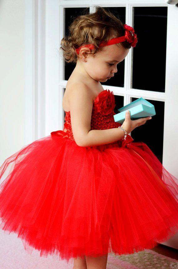 Flower girl red tutu