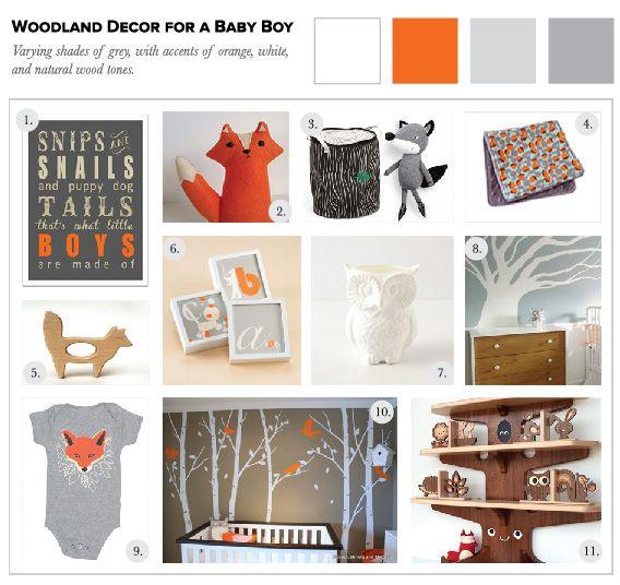 woodland decor for a baby boy - Woodland Nursery Decor