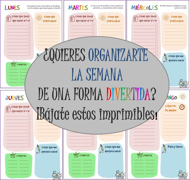 Imprimibles gratis. To Do List para organizarte la semana