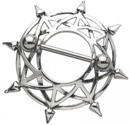 Clearance Star Nipple Shield and Barbell