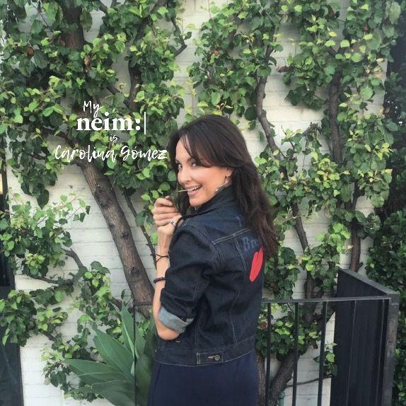 @carogomezfilm con su #denimjacket de #NeimMarket