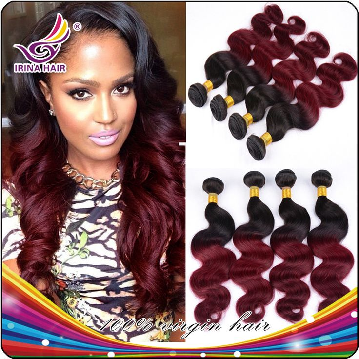 Burgundy Ombre Hair Weave Ombre Peruvian Hair Weave