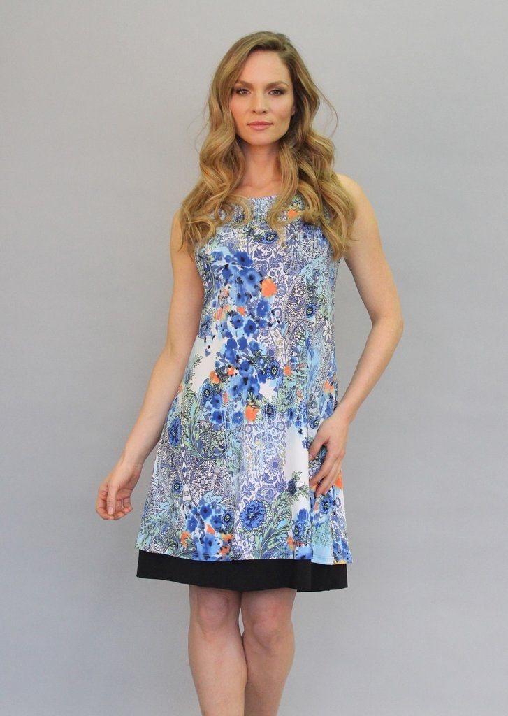 Papillon Blanc reversible dress.  Black with a floral boarder on the other side.  $145.00