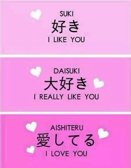 Differentes facon d'aimer en japonais ~