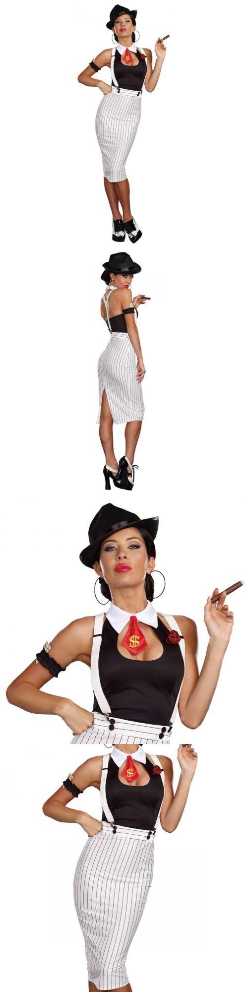 Halloween Costumes Women: Gangster Costume Adult 1920S Mobster Halloween Fancy Dress BUY IT NOW ONLY: $45.89