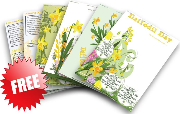 #FreebieFridayDocument your Daffodil Day Activities and Discussions with our Free Daffodil Day Learning Story Pack.  Suitable for LDC, FDC, MTOP, VEYLDF and Kindergarten. 12 pages FREE! http://designedbyteachers.com.au/marketplace/daffodil-day-editable-learning-story-pack/