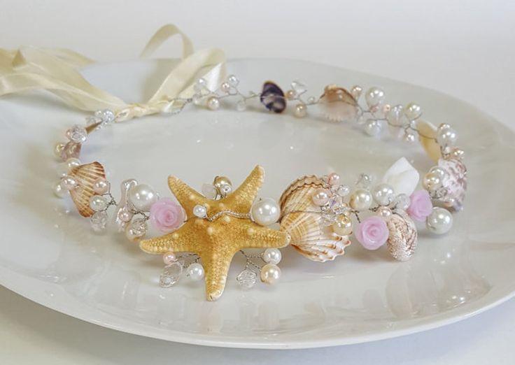 beach bridal tiarawedding seashell headpiecebridal