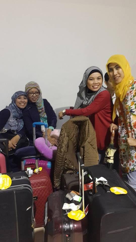 safe flight home! kak Ika, kak Mia, kak Rani, kak Wita!  #OriflameID #GoldCruiseORIFLAME2014 #dBCNatGoldCruise