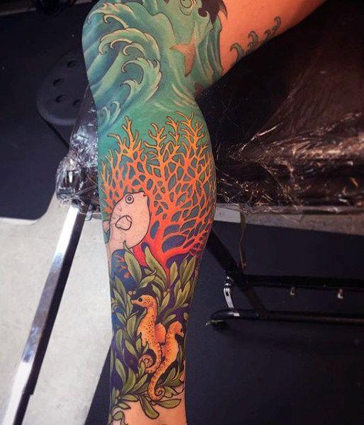 27 Leg Sleeve Tattoo Designs Ideas: 78 Best Ideas About Men's Leg Tattoos On Pinterest