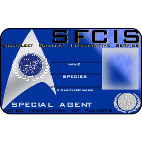 sfcis id card starfleet criminal investigative service special agent from the identity props. Black Bedroom Furniture Sets. Home Design Ideas