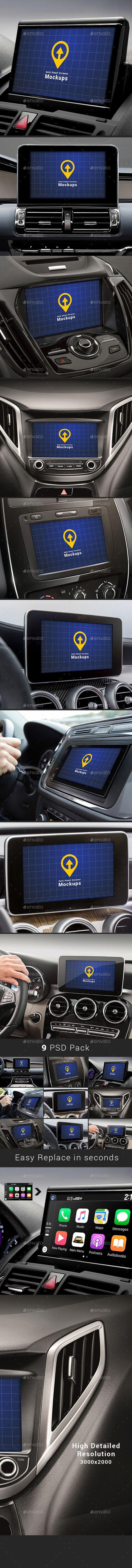 Auto Smart Screens Mock-ups