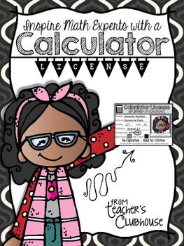 FREE Calculator License - Give your math experts a chance to earn a cursive license! Reward students who have mastered multi-digit addition and subtraction with regrouping by issuing them a license that gives them permission to use a calculator for their future math work! Little mathematicians will eat it up!! They'll be checking their work for mistakes and getting rid of those careless errors with this motivational tool.