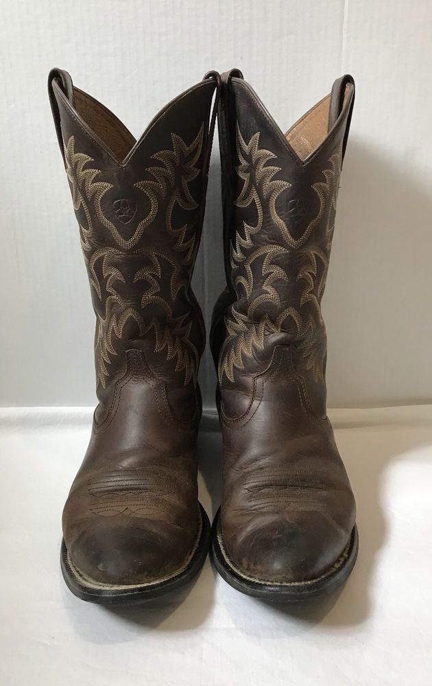 732c108f81b Ariat Men s Cowboy Western Boots Size 9 D Brown Leather ...
