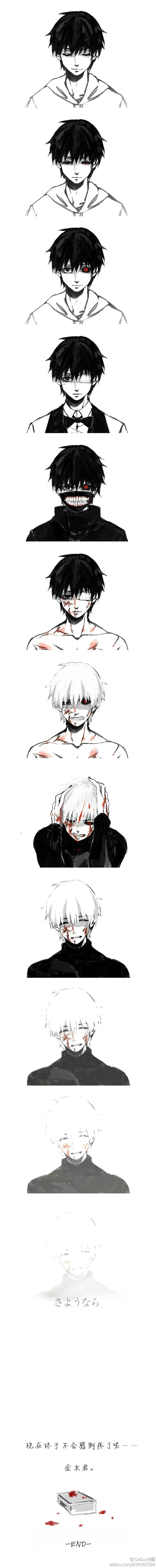 THE EVOLUTION OF KANEKI KUN