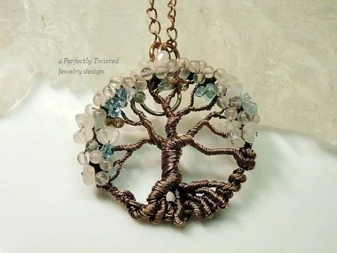 Wire Wrapped Tree of Life Pendant Moonstone & by PerfectlyTwisted